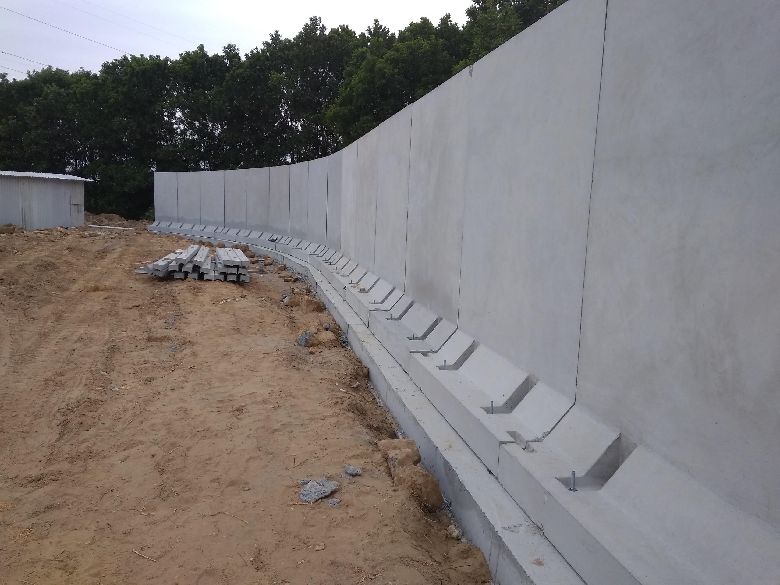 Tường rào bê tông dự án KYOWA