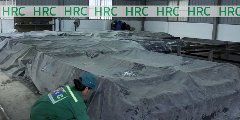 Dưỡng hộ bê tông tại nhà máy HRC